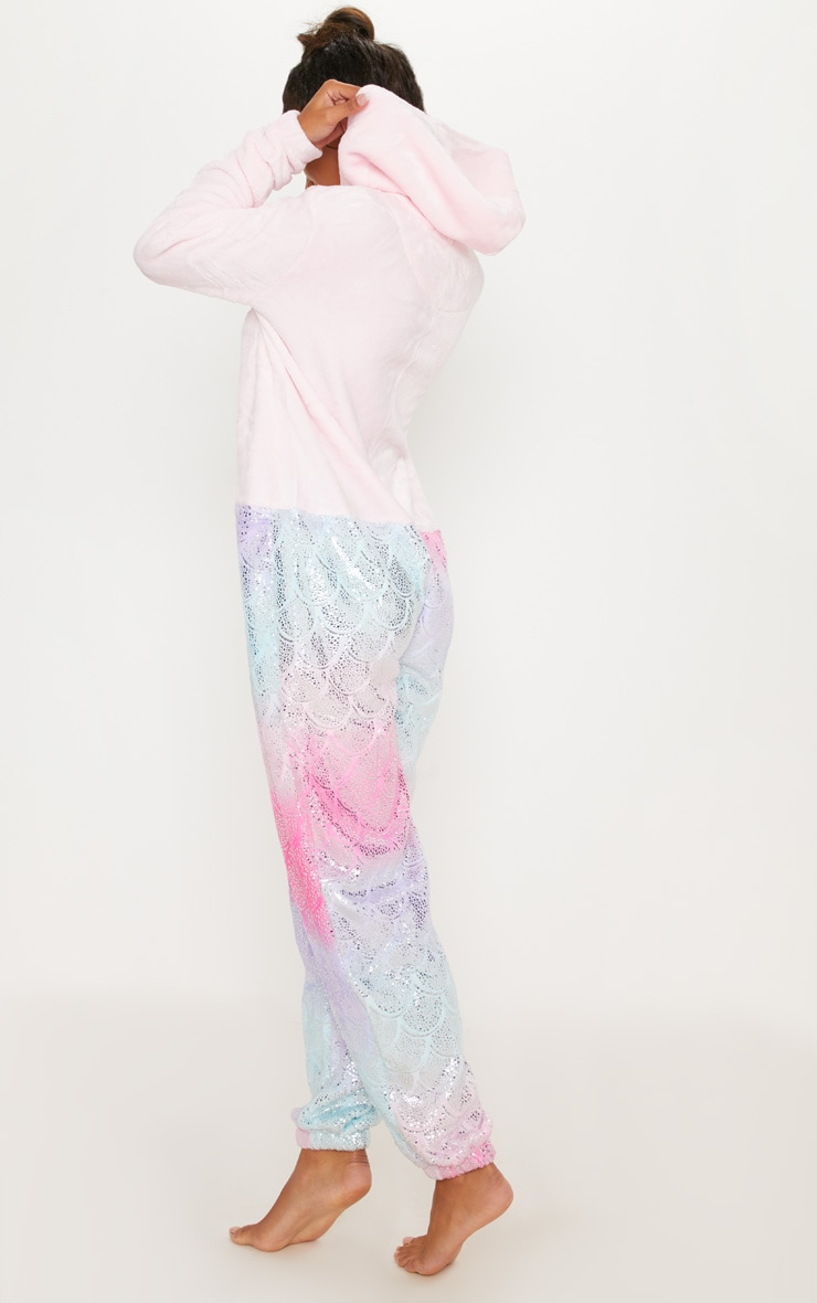 Pink Mermaid Metallic Print Onesie  2