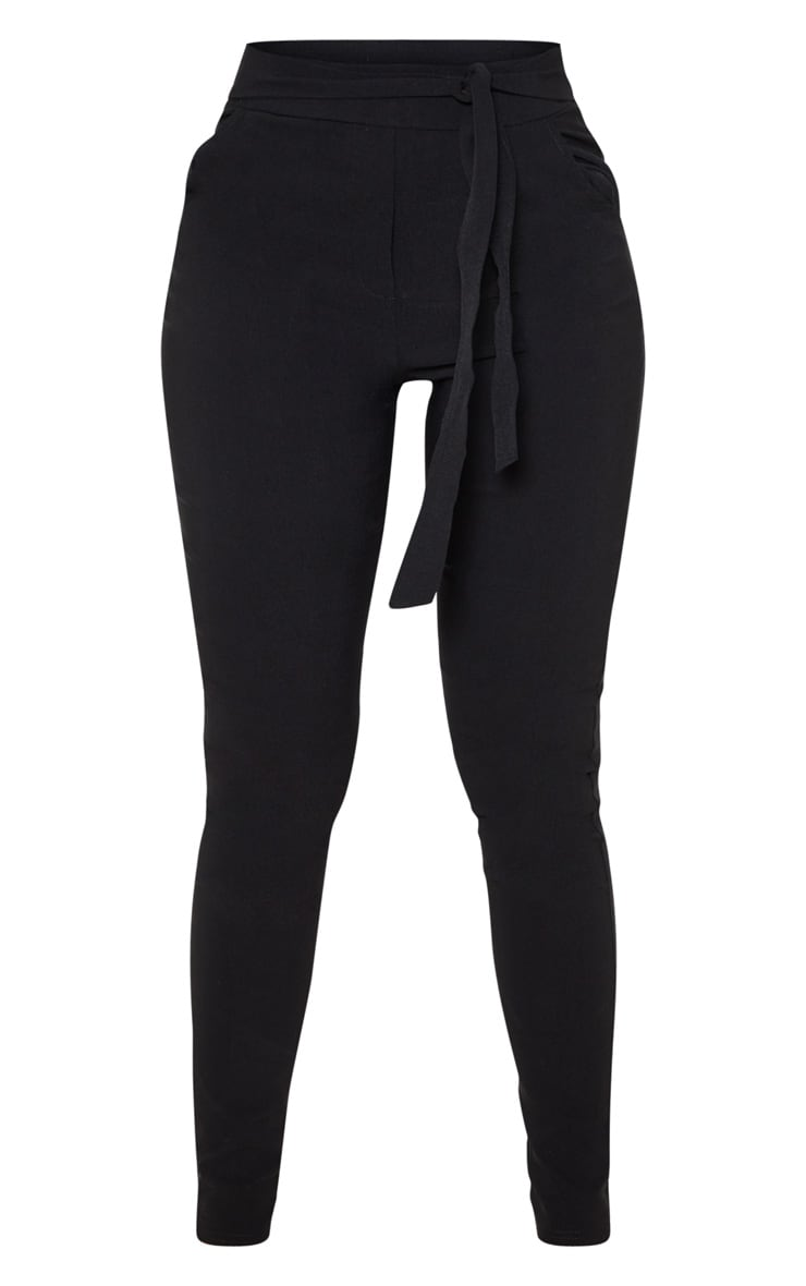 Pantalon skinny noir stretchy à taille haute nouable 3