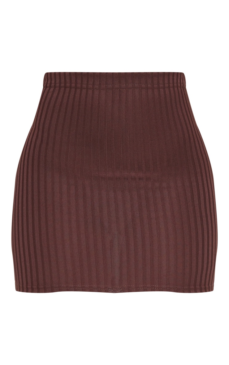 Chocolate Rib Mini Skirt 6