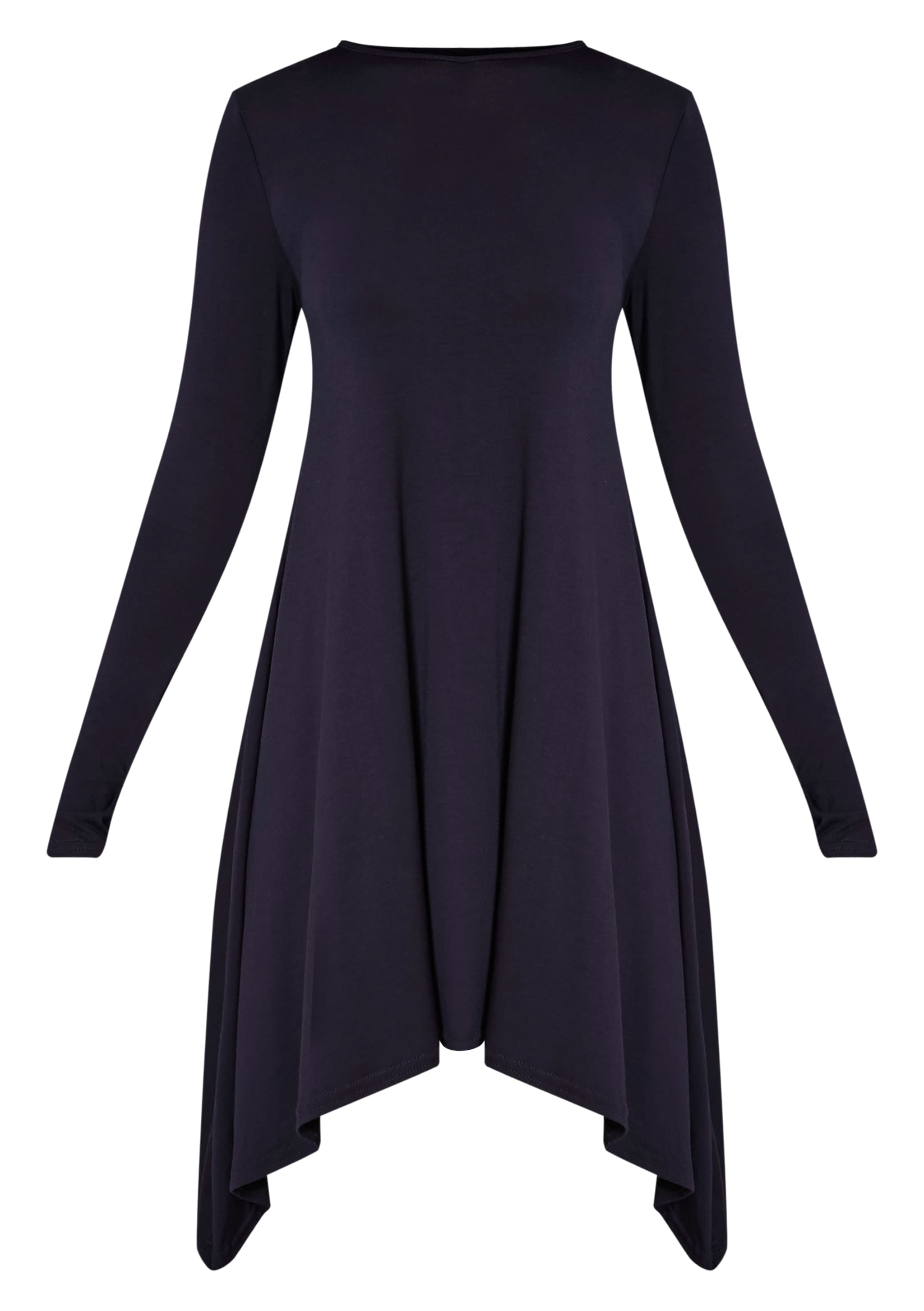 Basic Navy Swing Dress 3