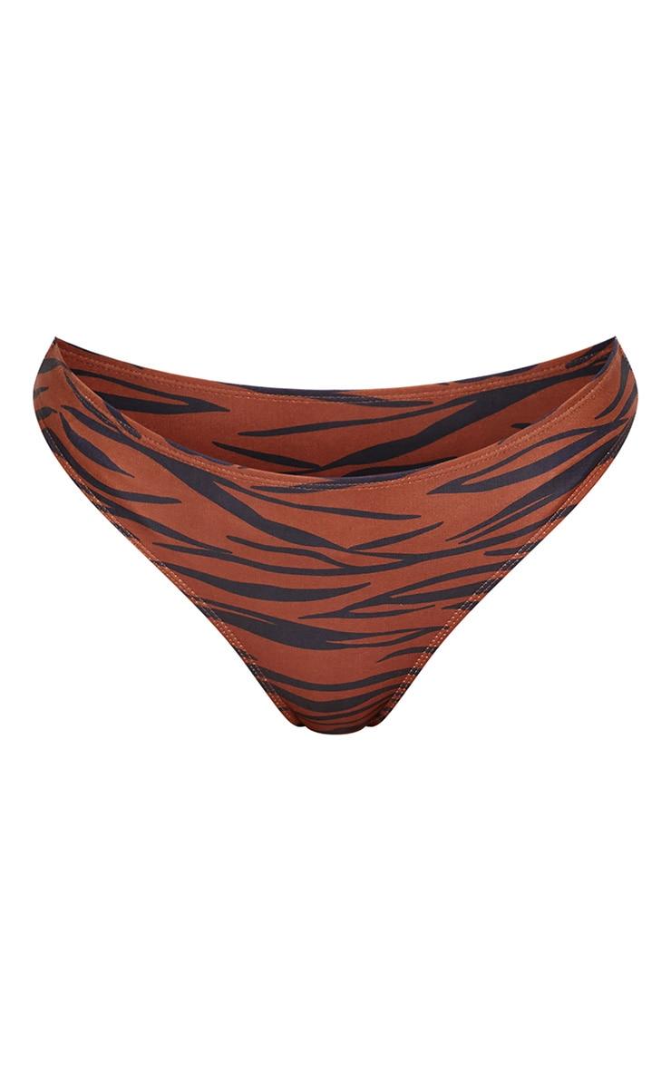 Rust Zebra Cheeky Bum Bikini Bottom 3