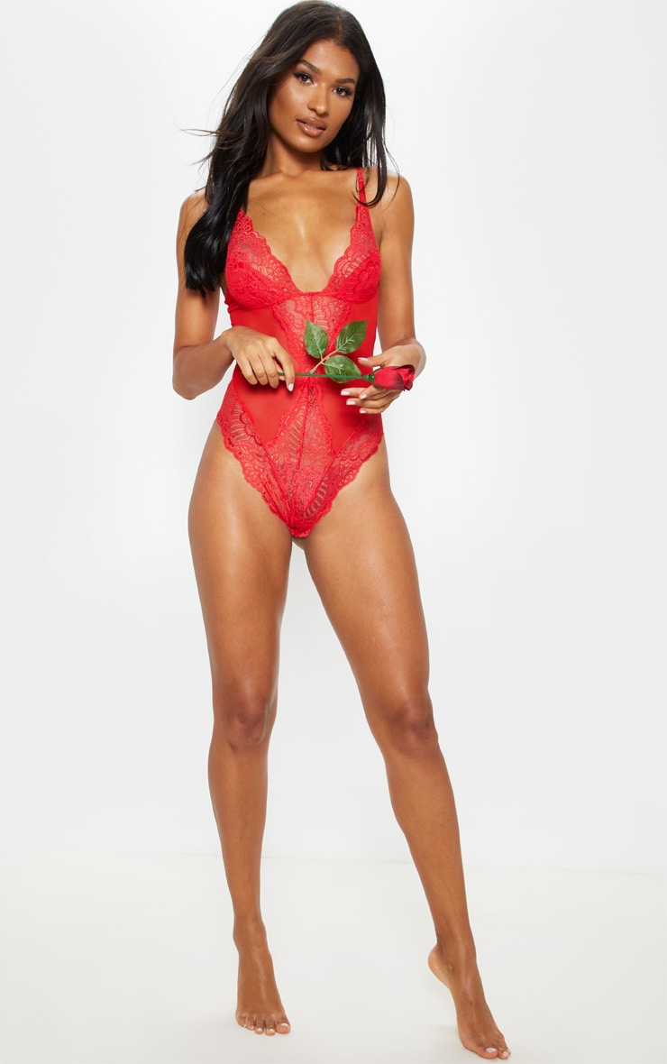 Red Scallop Lace Body 4