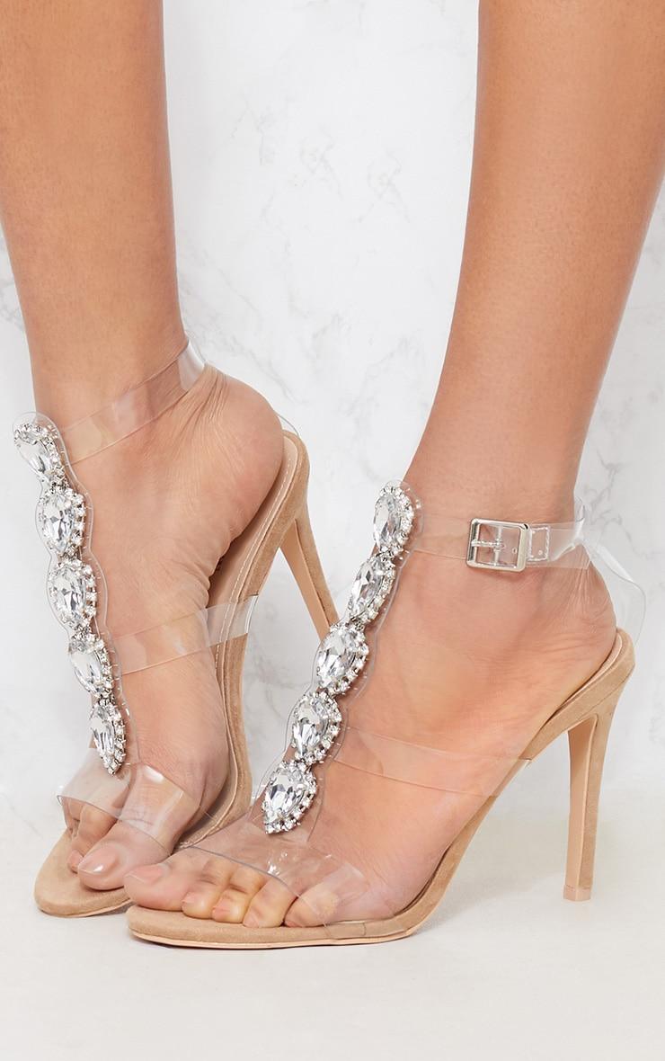 Nude Jewel Heel Sandal 1