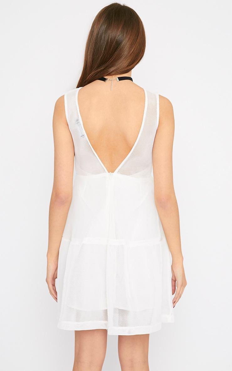 Hannie White Net Skater Dress 2