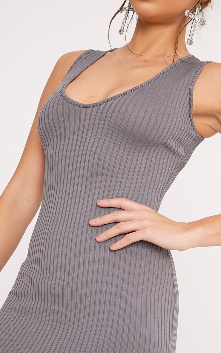 Verlee Plunge Neck Ribbed Bodycon Dress 5