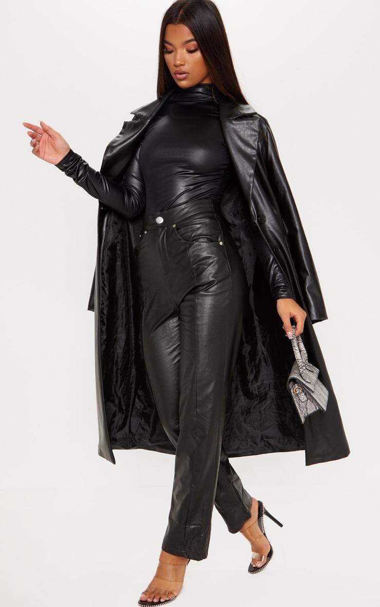Black High Shine Bodysuit 5