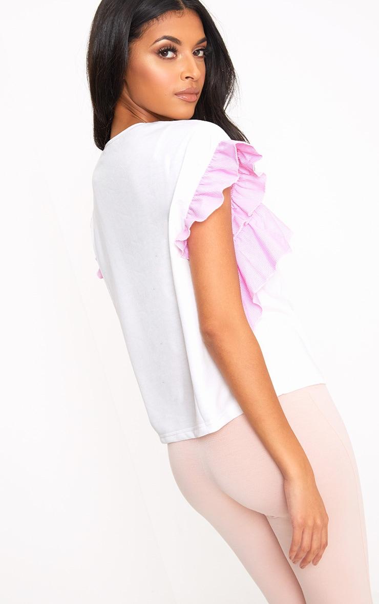 White Shirt Frill Detail T Shirt 2