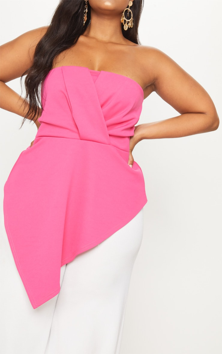 Plus Hot Pink Origami Bandeau Top 5