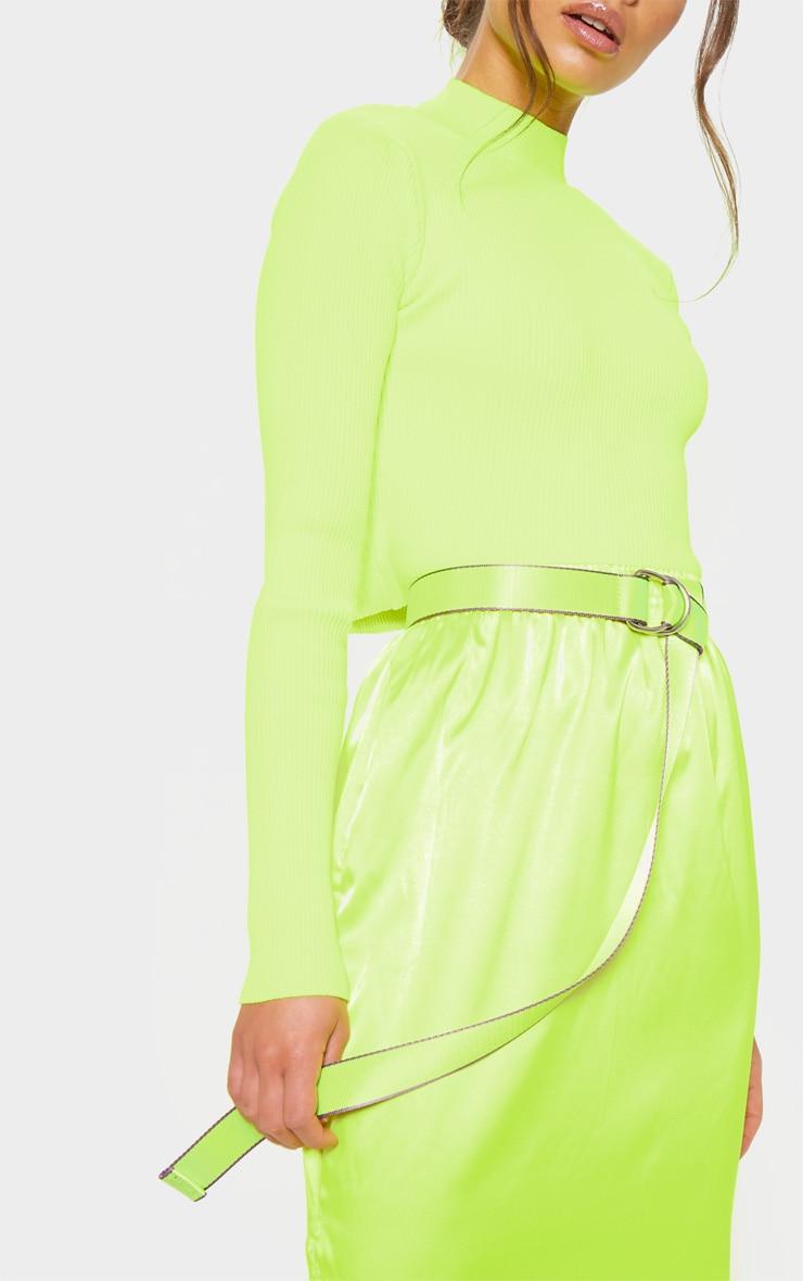 Neon Lime Webbing Belt 1