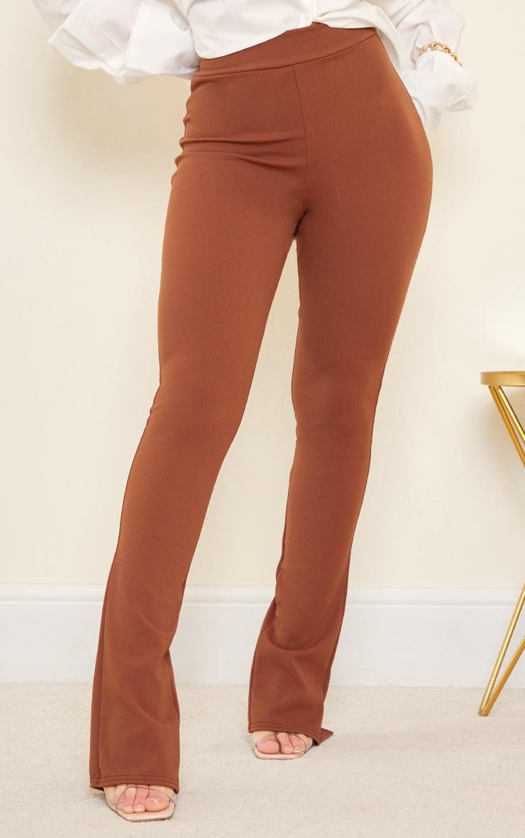 Chocolate Back Split Hem Skinny Trousers 2