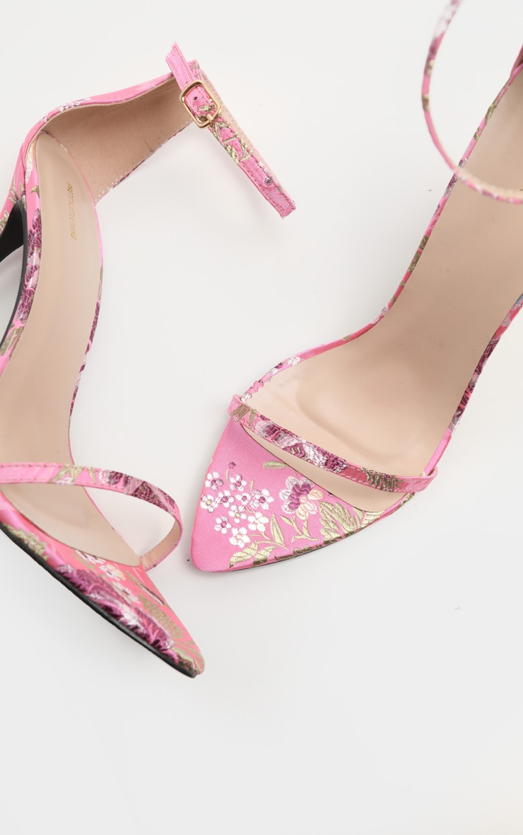 Pink Floral Oriental Strappy Sandal 3