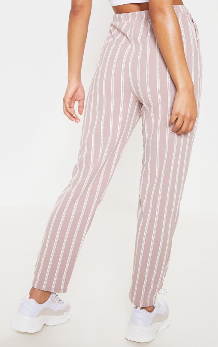 Lilac Stripe Print Cigarette Pants 4