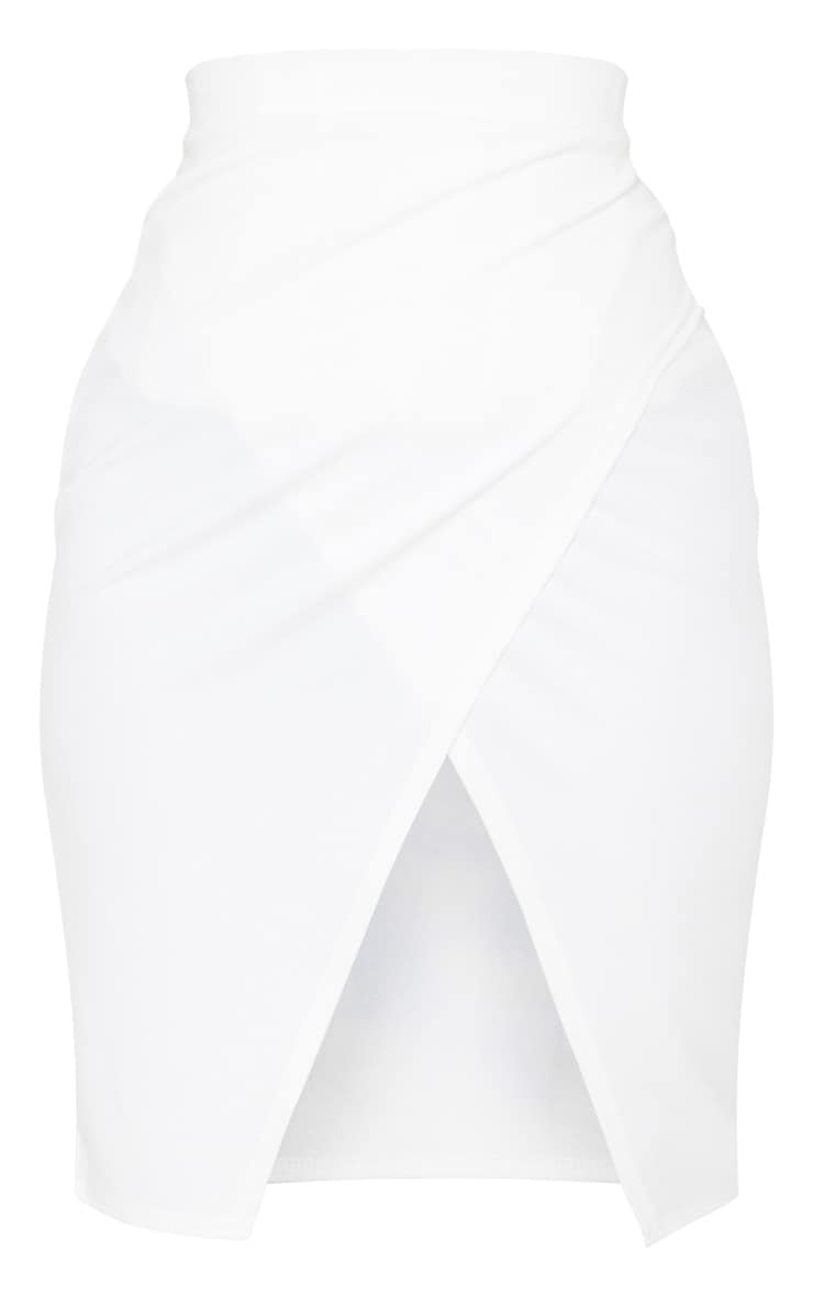 Petite Cream Wrap Pencil Skirt 3