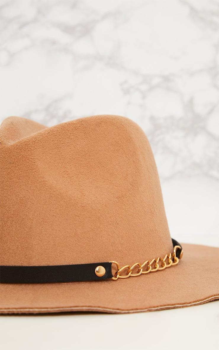 Honna Brown Fedora Hat 5