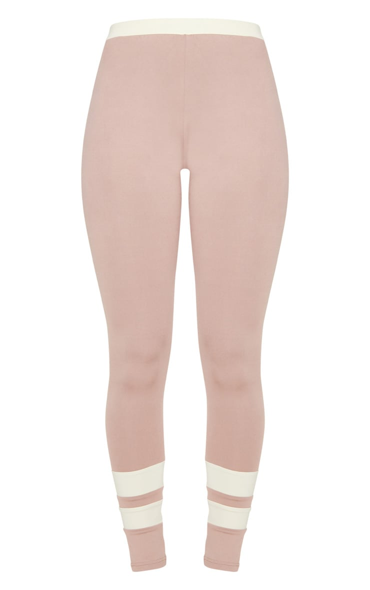 Taupe Contrast Leggings 4