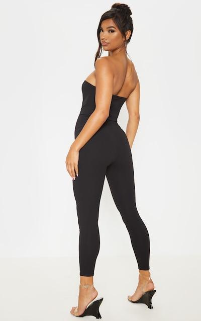 Black Bandeau Slim Leg Jumpsuit