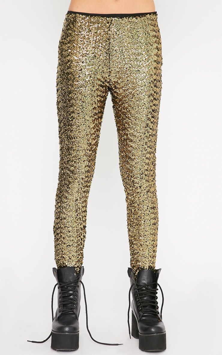 Maggie Gold Sequin Legging 3