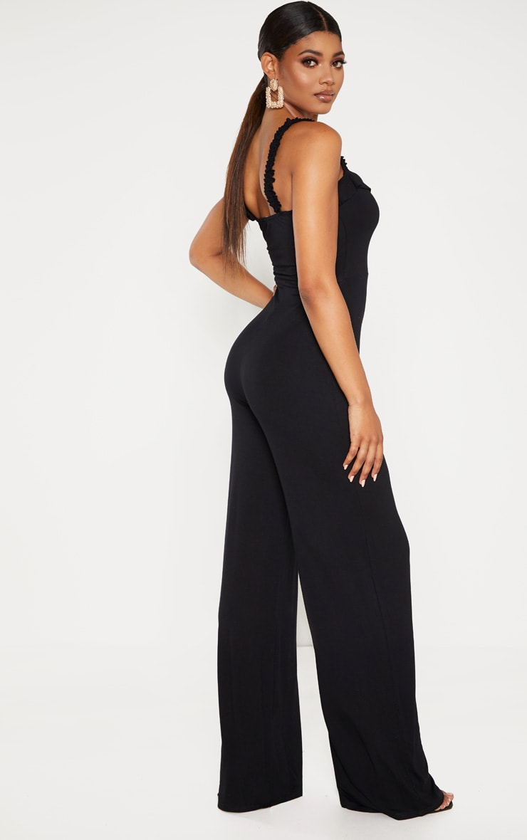 Tall Black Wide Leg Jumpsuit 2