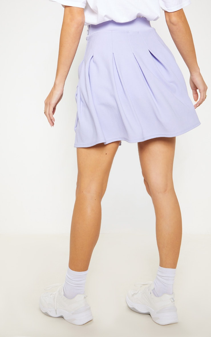 Lilac Pleated Tennis Skirt 4