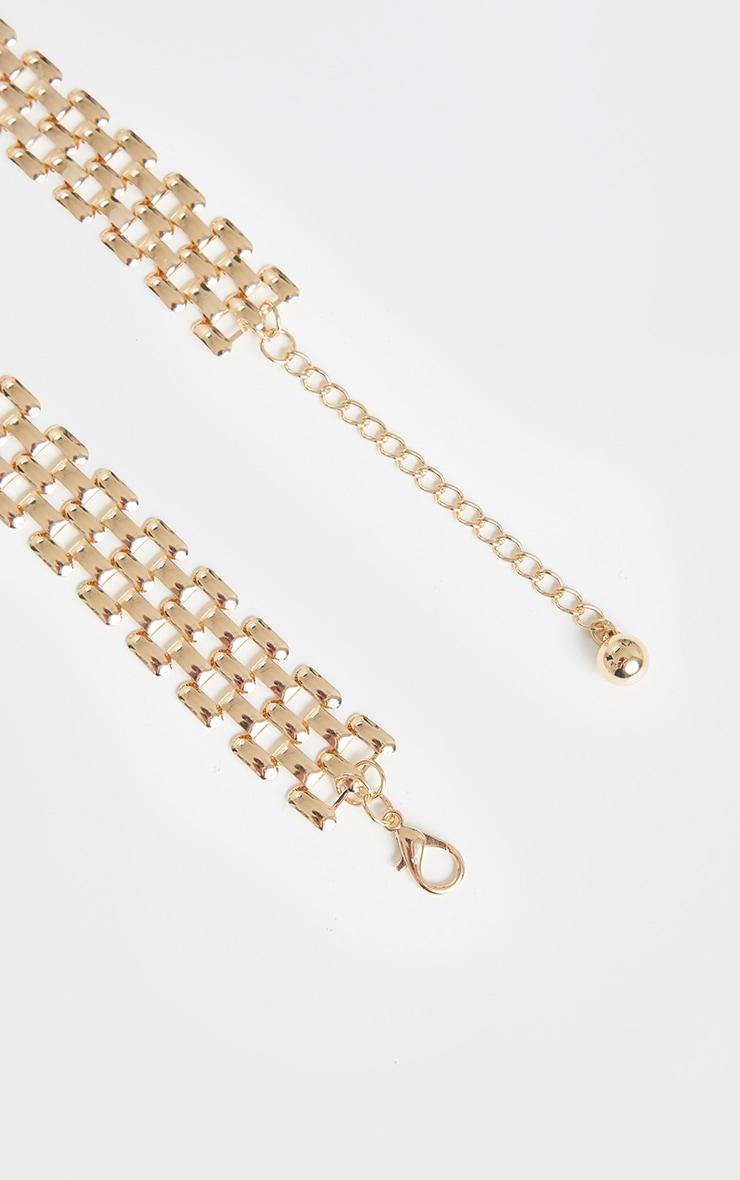 Gold Link Hexagon Chain Belt 4