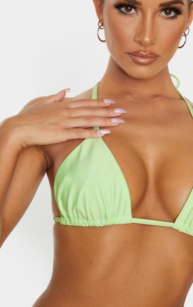 Mint Mix & Match Triangle Bikini Top 5