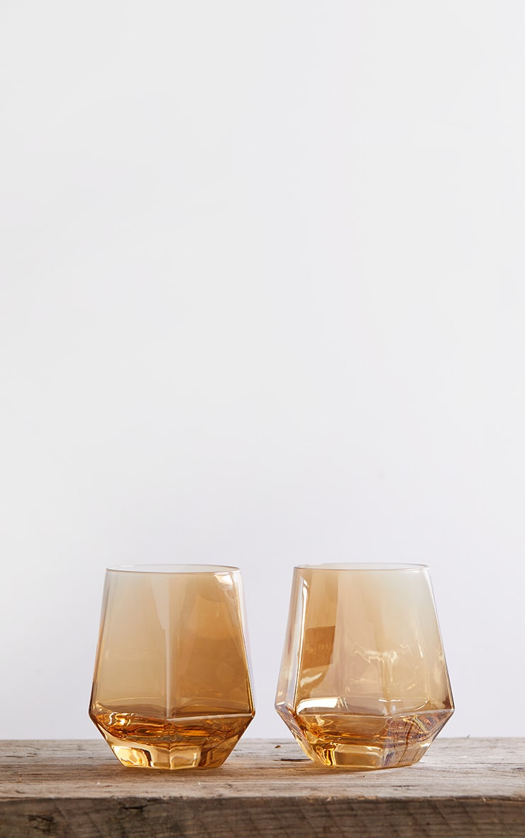 Amber Diamond Glass Drink Set 5