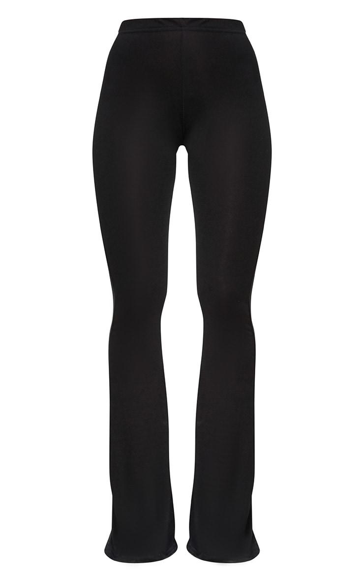 Petite Black Basic Flare Leg Pants 3