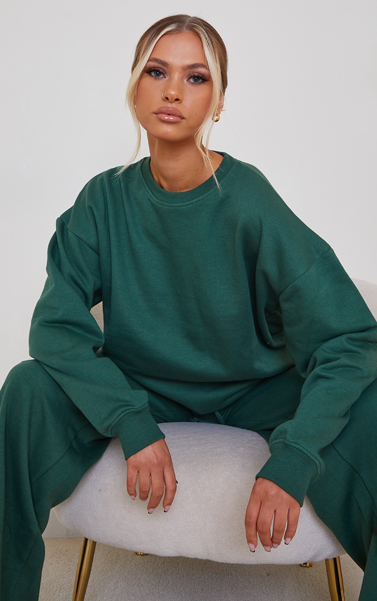 Forest Green Oversized Sweater 1