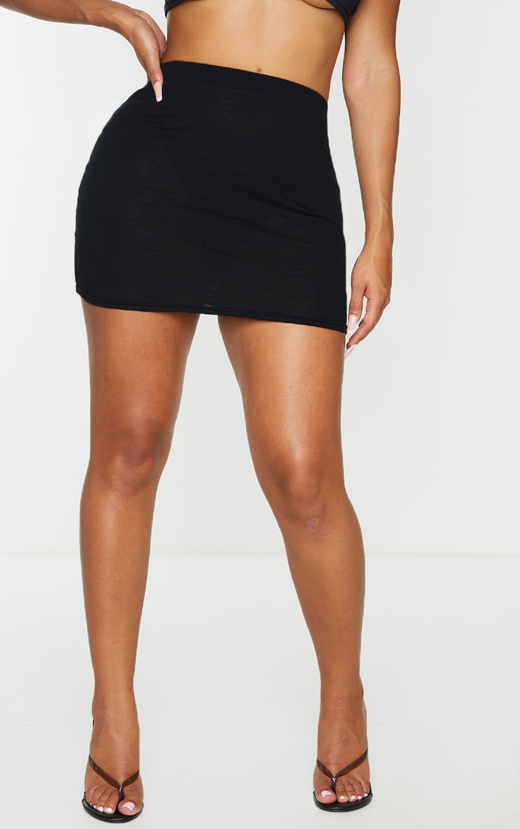 Shape Black Burnout Jersey Bodycon Skirt 2