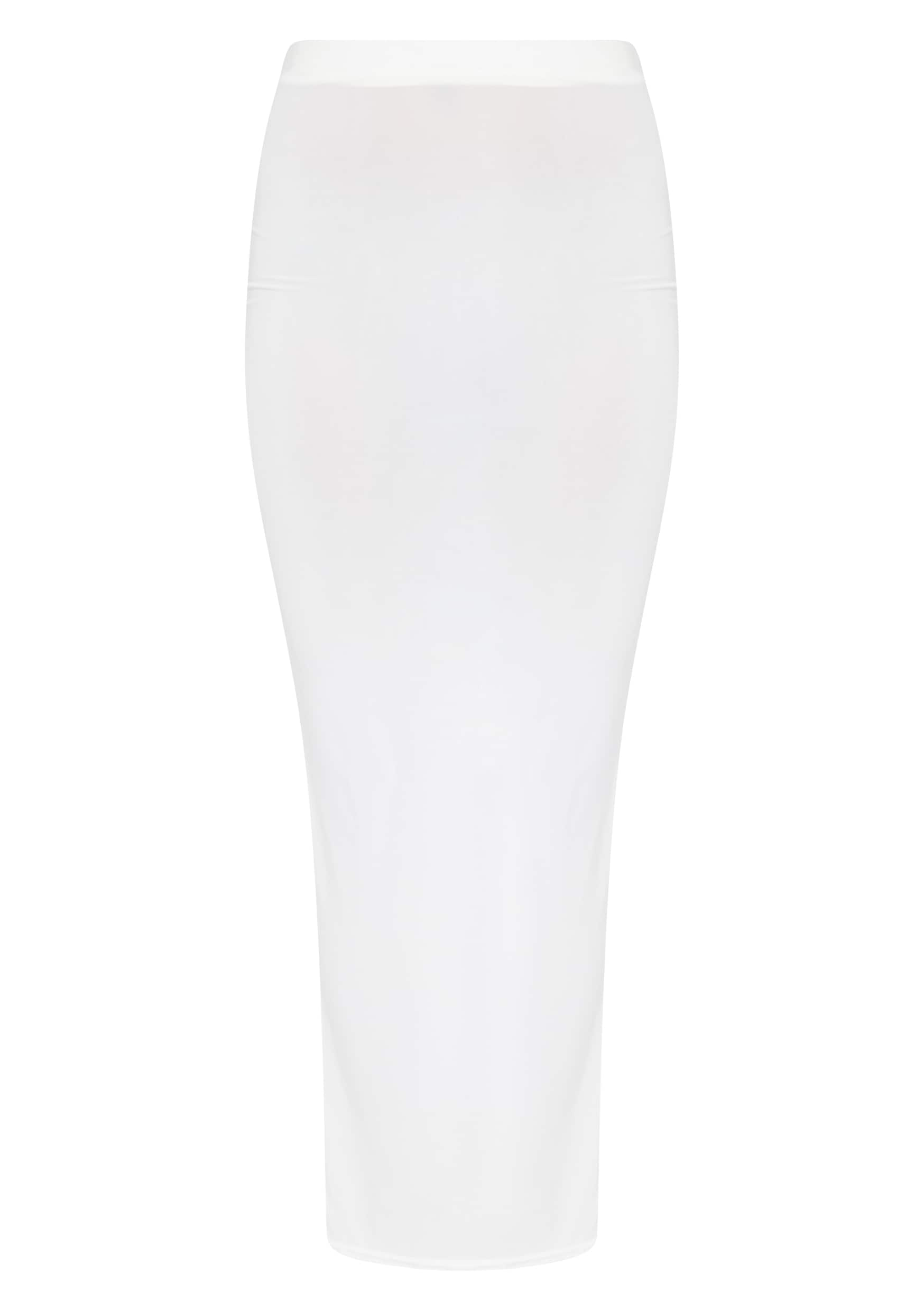 Maizie Cream Slinky Split Maxi Skirt 5