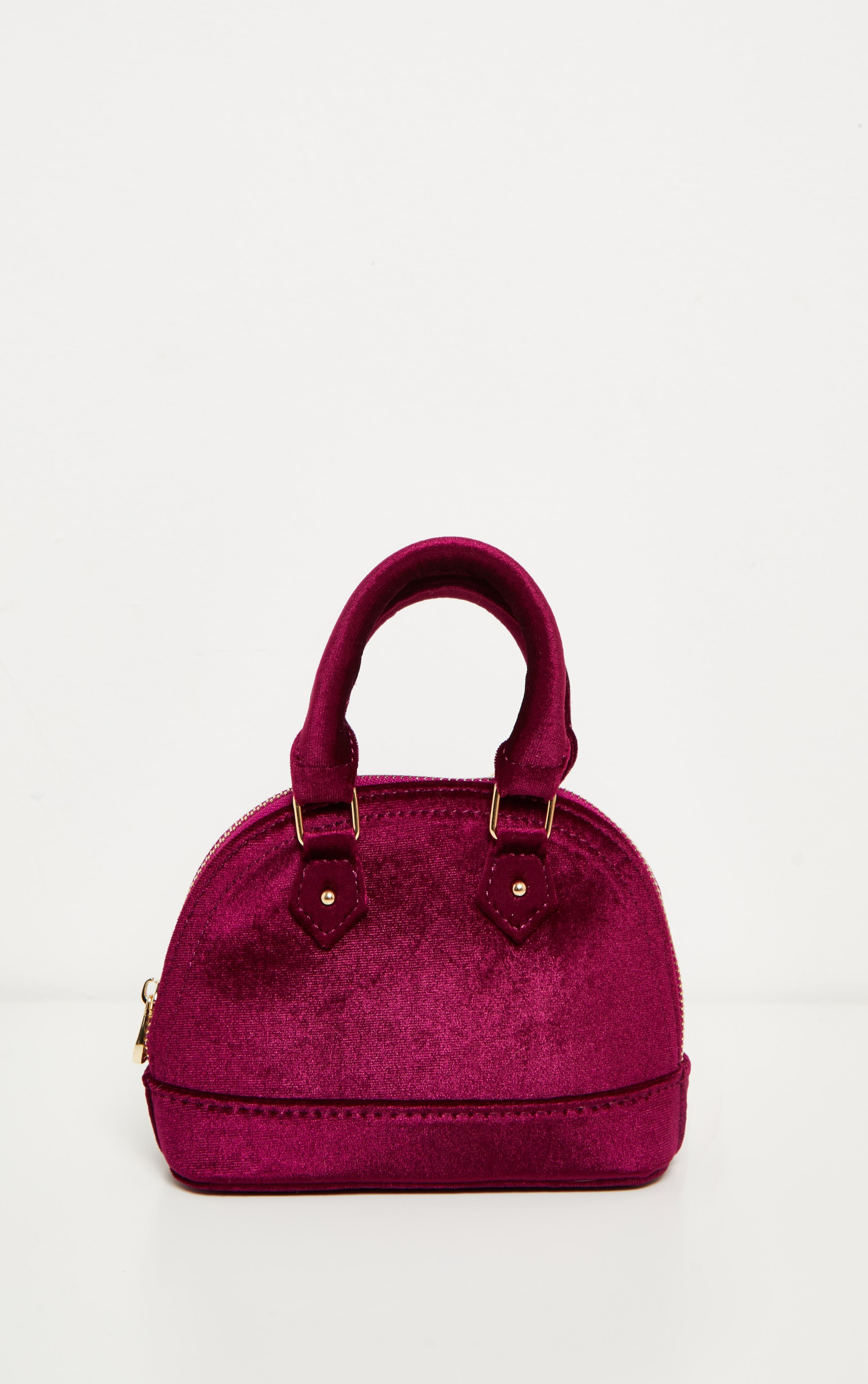 Rose Velvet Chain Trim Mini Bag 4