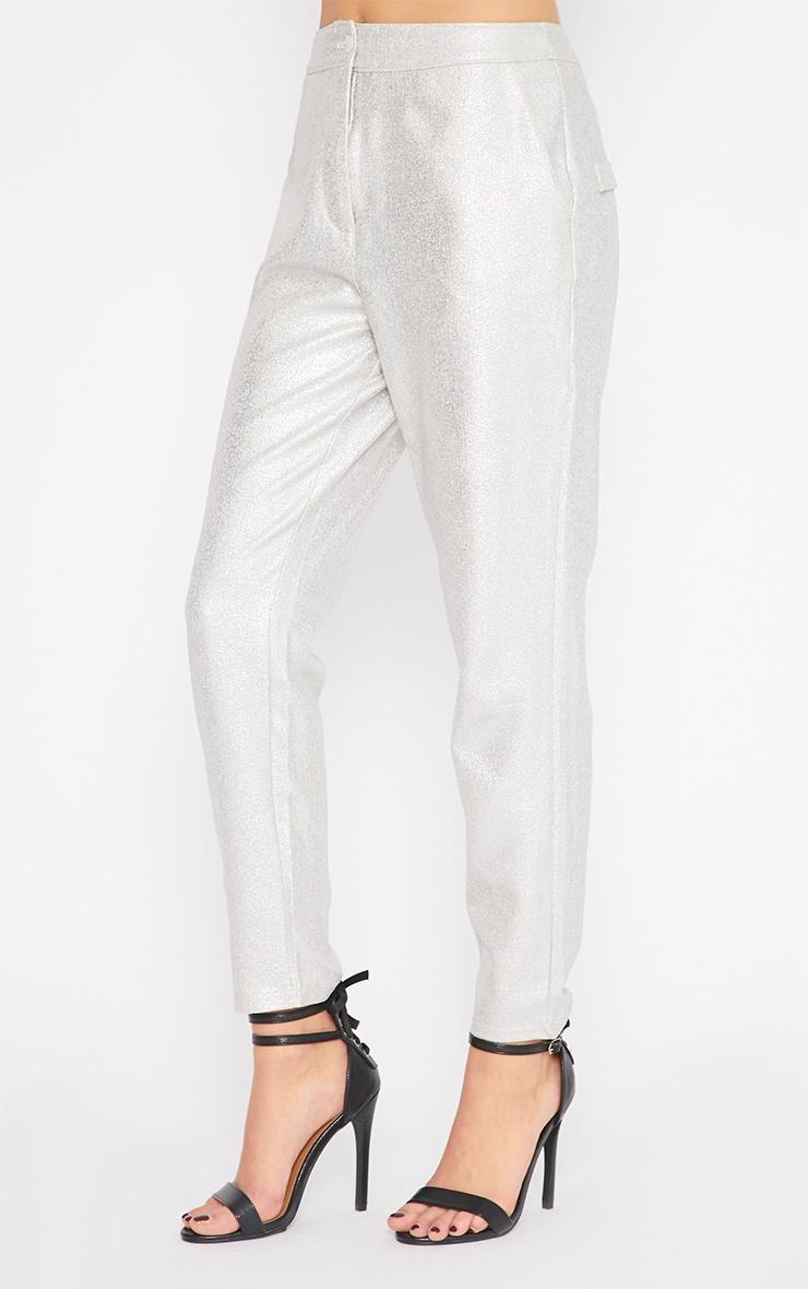 Gabby Silver Iridescent Cigarette Trouser 5