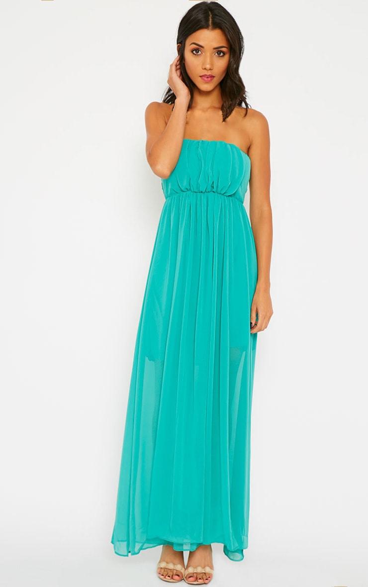 Brigette Green Bandeau Maxi Dress 3
