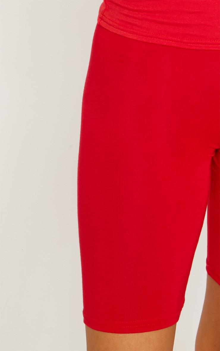 Short cycliste basique rouge