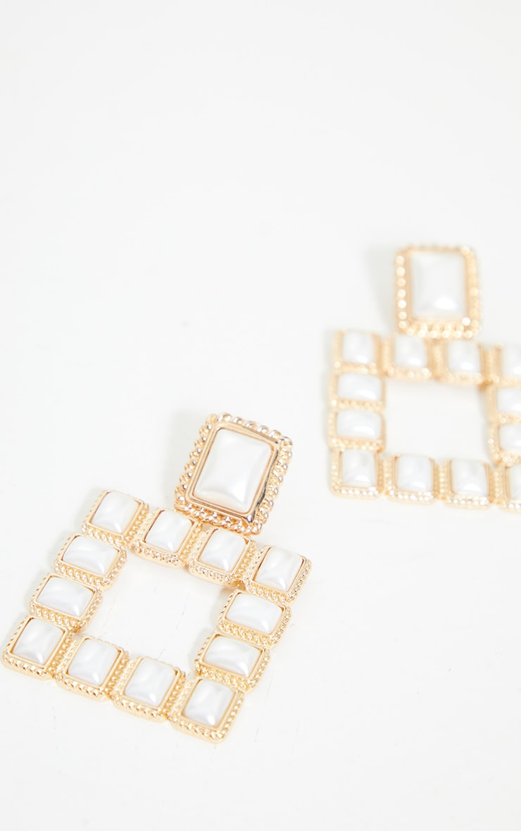 Gold Chunky Pearl Rectangle Door Knockers 4