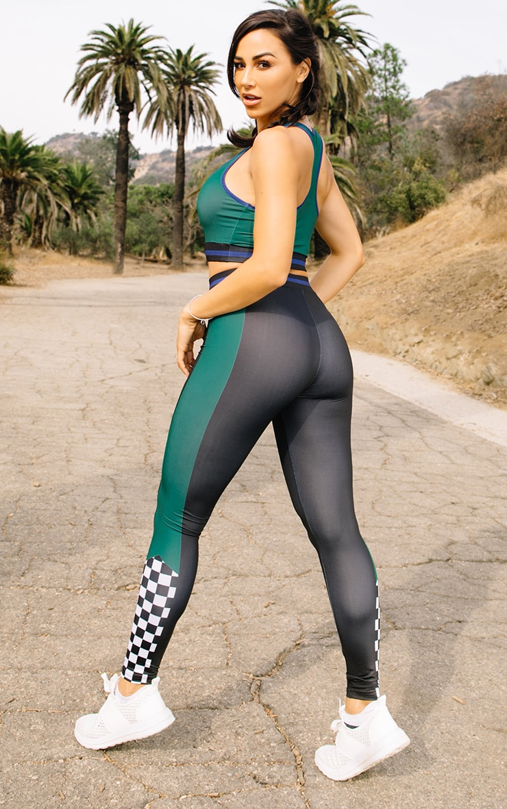 Black Motocross Sports Leggings 2