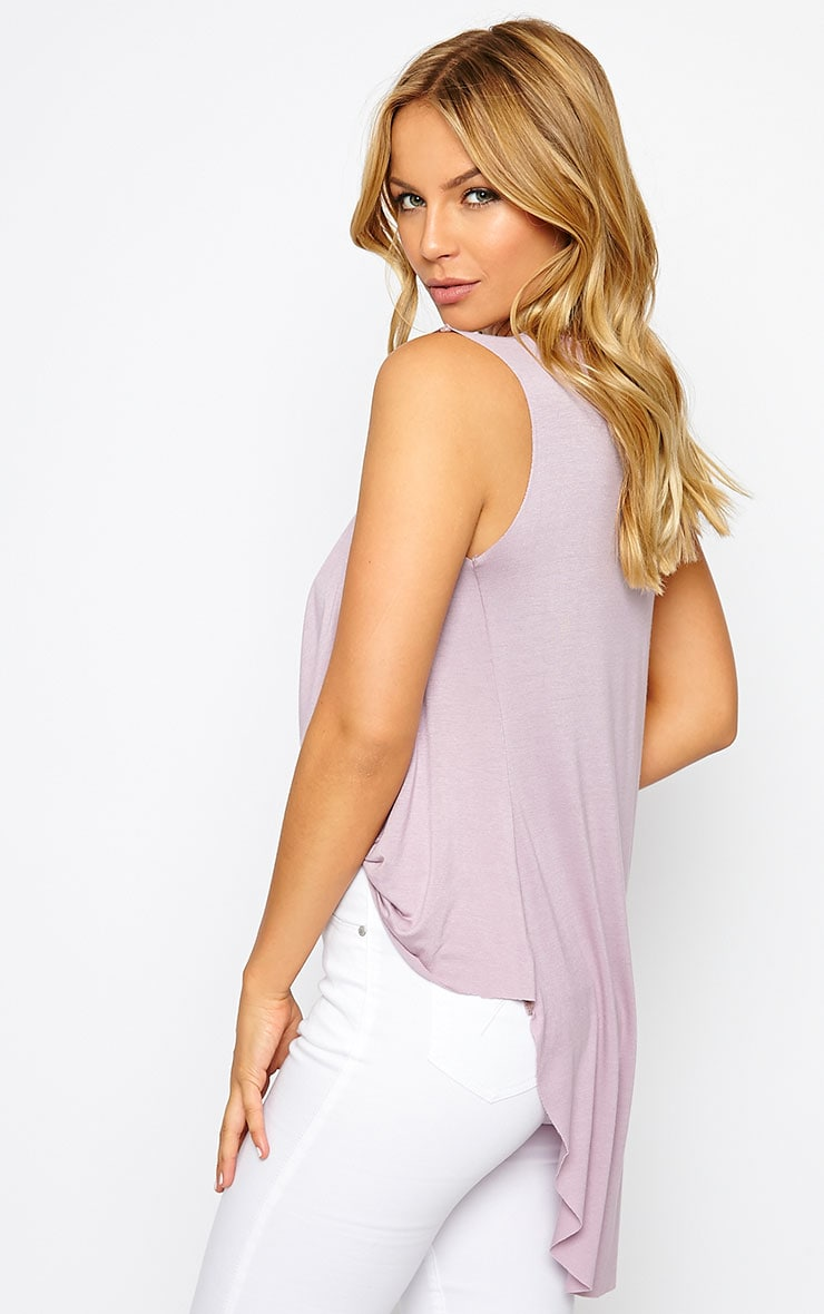 Jodeane Mauve Twist Front Sleeveless Top 4