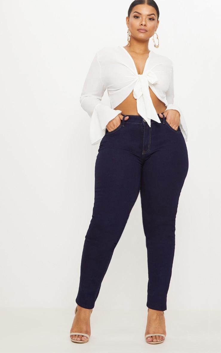 Plus Indigo Skinny Jeans image 1