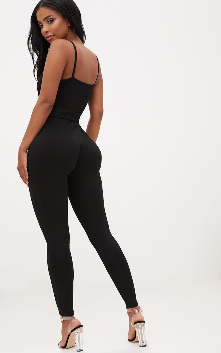 Shape Black Wrap Cami O-Ring Jumpsuit 2
