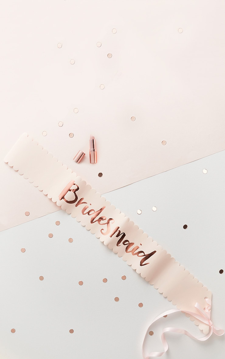 Lot de 2 écharpes rose gold à slogan Bridesmaid 3
