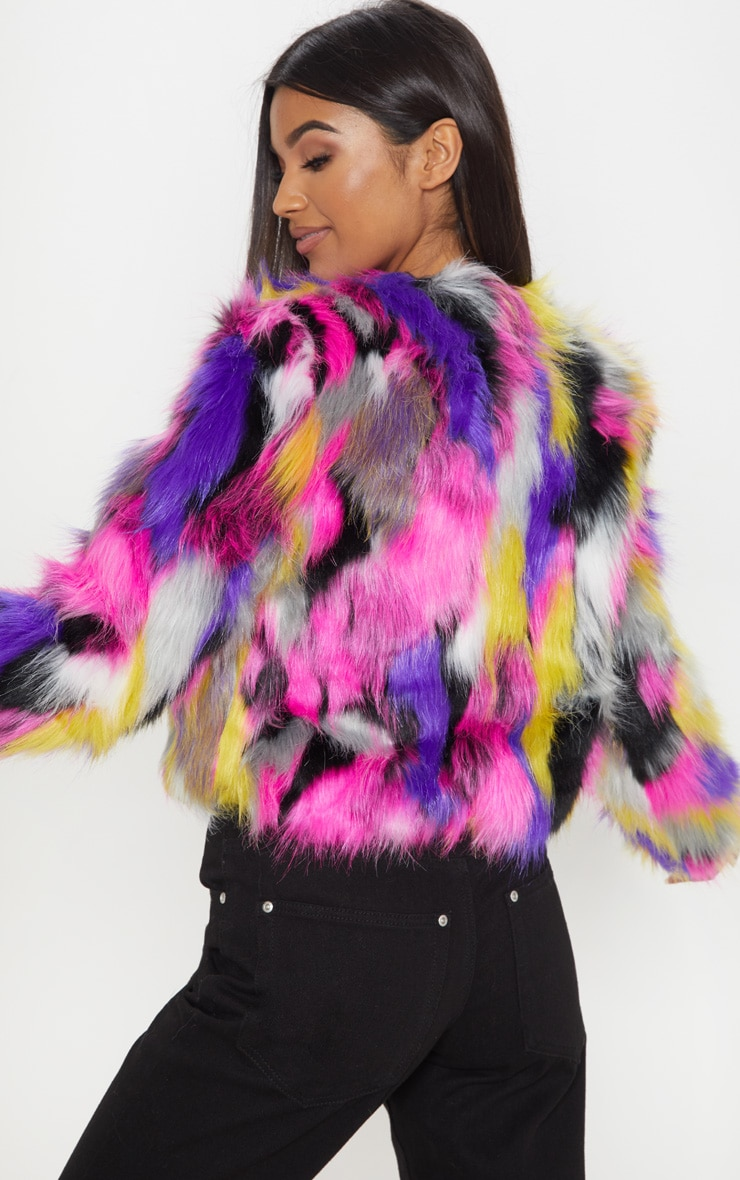 Elle Multi Faux Fur Jacket 2
