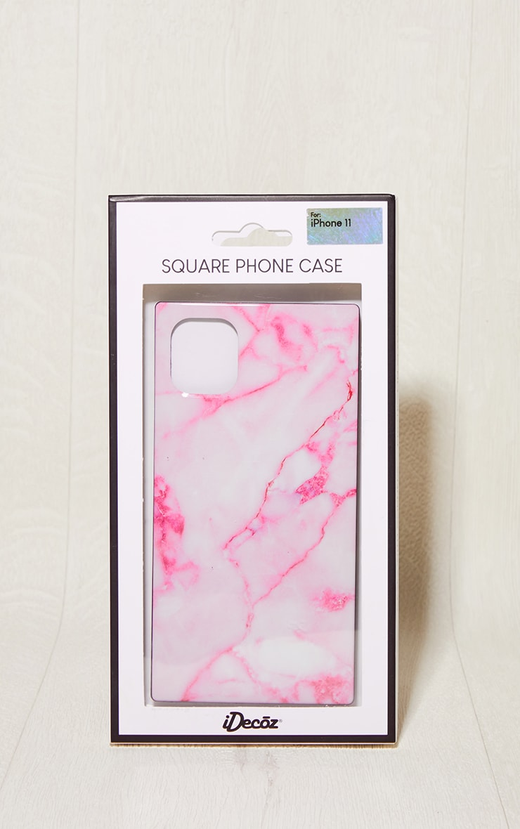Idecoz Blush Marble Square Iphone 11 Case 2