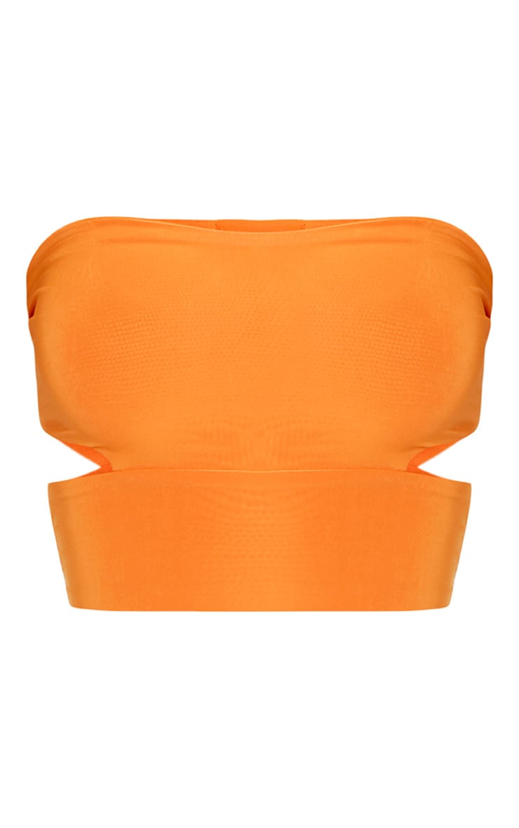Denise Orange Cut Out Side Slinky Bandeau  3