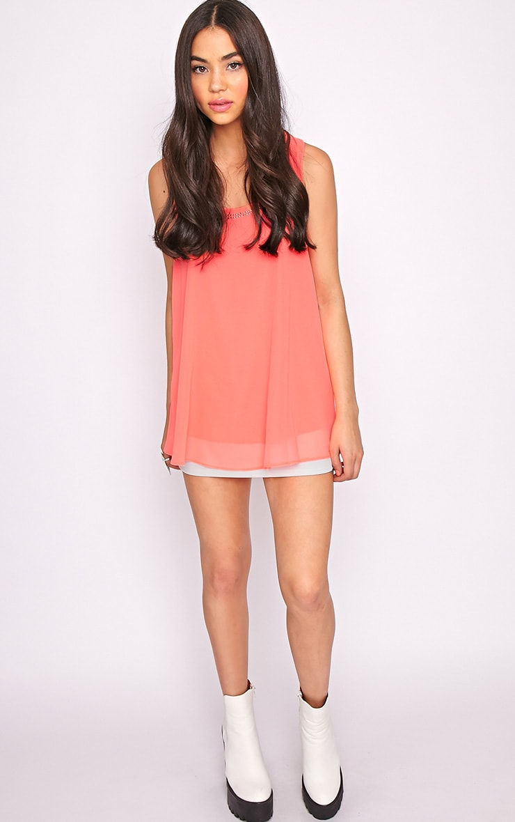 Lizzy Coral Studded Swing Vest  3