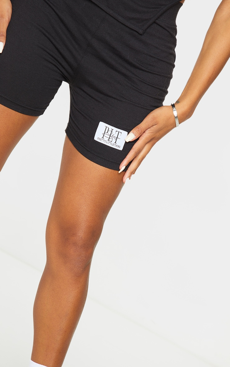 PRETTYLITTLETHING Shape Black High Waist Bike Shorts 5