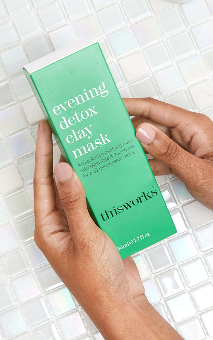 This Works Evening Detox Clay Face Mask 50ml 1