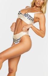 Nude Nude & Leopard Three Toned Bikini Bottom 4