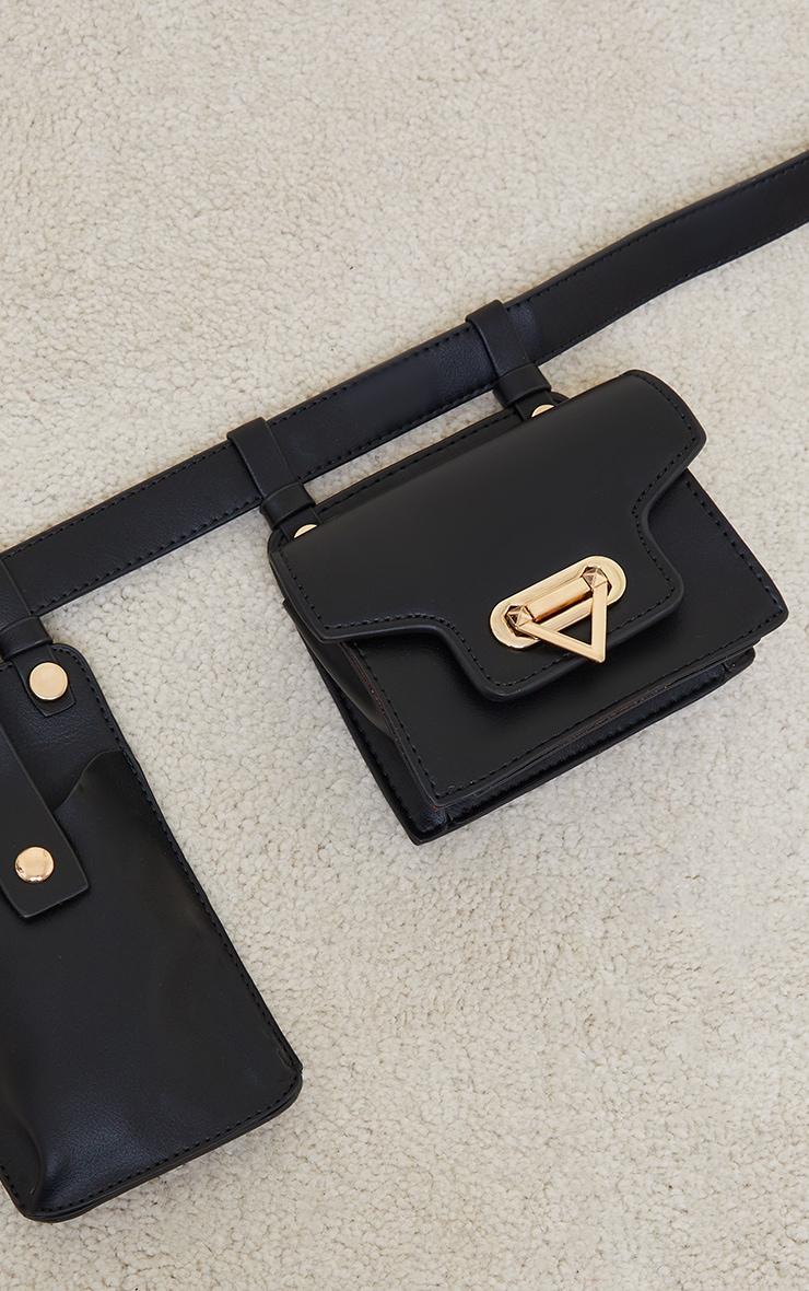 Black Multi Pocket Bag Belt 3