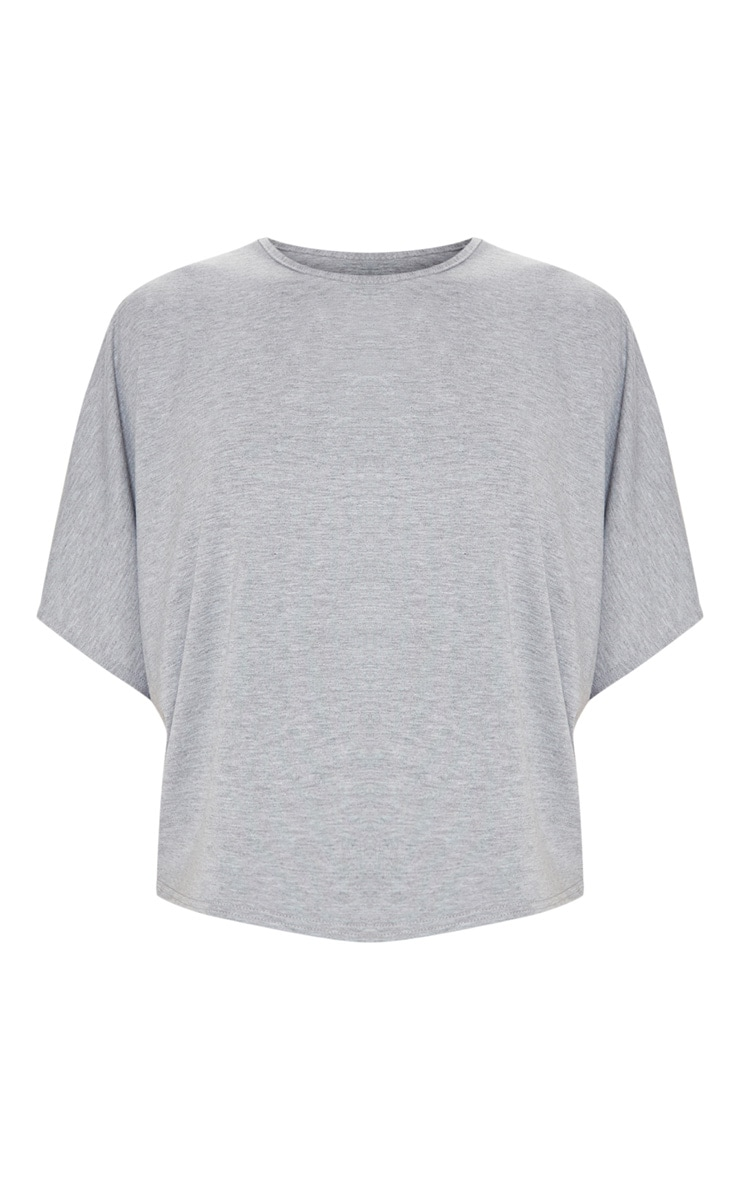 Basic Grey Jersey Batwing T shirt 3
