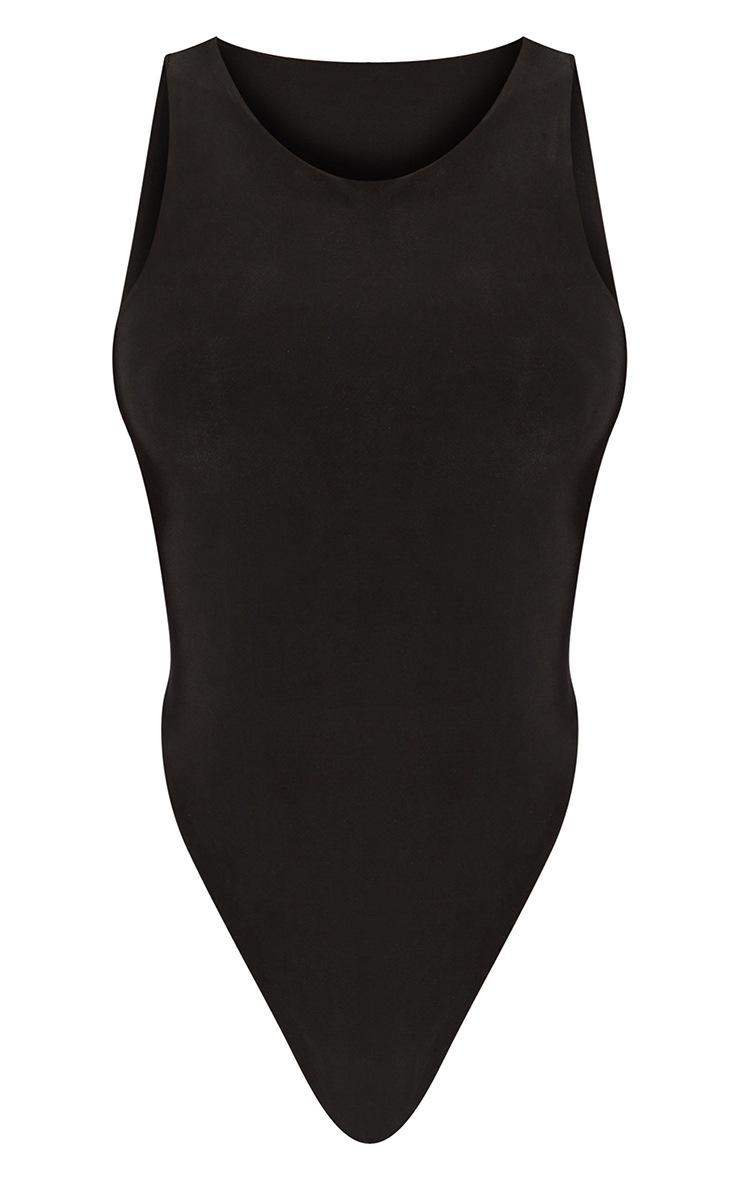 Tall Black Sleeveless Slinky Bodysuit 5